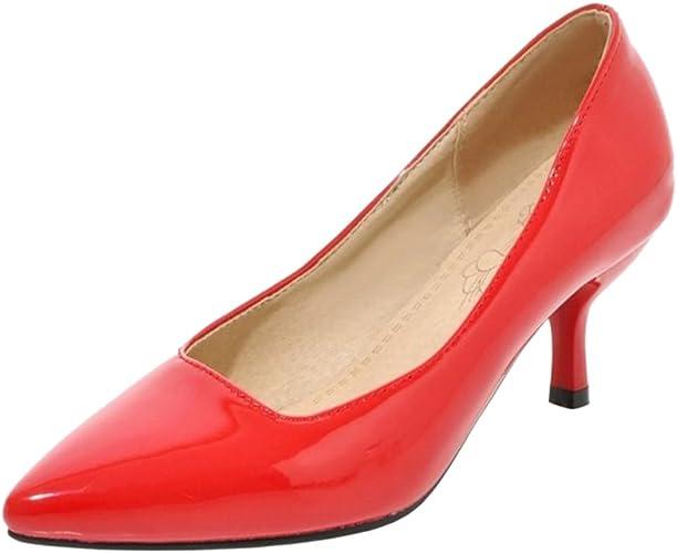 FizaiZifai21K67558 FZ US Zapatos Cerrados Mujer, Rojo