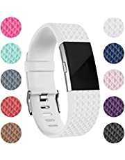 RedTaro Bands Compatible with Fitbit Charge 2, Classic & Special Edition Adjustable Sport Wristbands for Fitbit Charge 2 Women Men