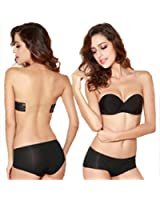 Strapless Invisible push-up bra, women Backless Sexy Underwire Wedding bras Cup ABCD