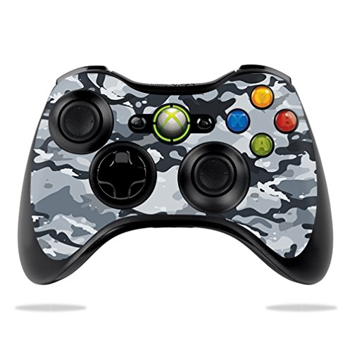 MightySkins Skin Compatible with Microsoft Xbox 360 Controller - Gray Camouflage | Protective, Durable, and Unique Vinyl Decal wrap Cover | Easy to Apply, Remove, and Change Styles | Made in The USA (Xbox 360 Gray Controller)