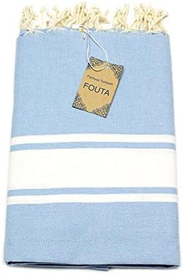 Fouta de toalla de sauna Pest veces peshte veces – Extra Grande 197 x 100 cm – 100% algodón de Túnez para baño, picnic, Yoga o playa (como un Türkisches de ...