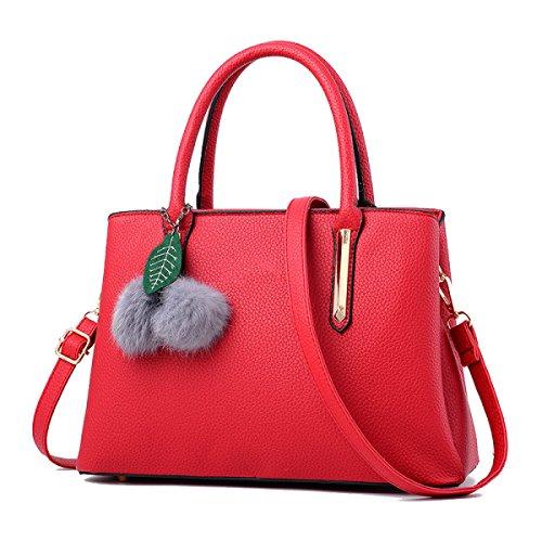 Bolsas Mujer De Con Rojo De Bolsos Pu Hombro La De Zhi Color Bolsas De Wu De Encanto Los Bolsos Del Mensajero qFw45f