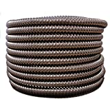 HydroMaxx Flexible Corrugated PVC Non-Split Tubing and Convoluted Wire Loom - UV Stabilized - Rated for Outdoor Use (2'' dia x 25 ft, Black)
