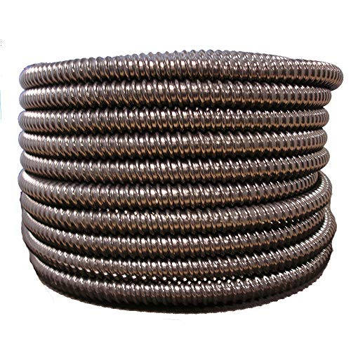 HydroMaxx Flexible Corrugated PVC Non-Split Tubing and Convoluted Wire Loom - UV Stabilized - Rated for Outdoor Use (2
