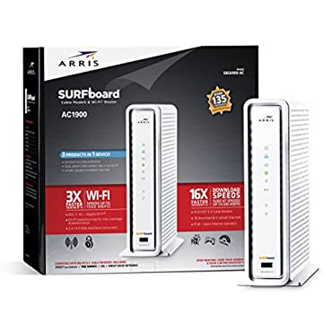 ARRIS SURFboard SBG6900AC Docsis 3.0 16x4 Cable Modem/ Wi-Fi AC1900 Router Retail Packaging White