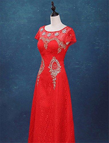 Imperio Rosso Vestido Drasawee Para Mujer Corte fEq881w