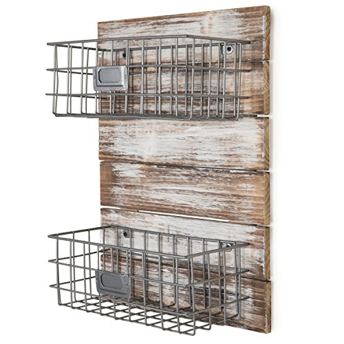 Wall Mounted Fruit Storage Baskets for Rustic Farmhouse Kitchens