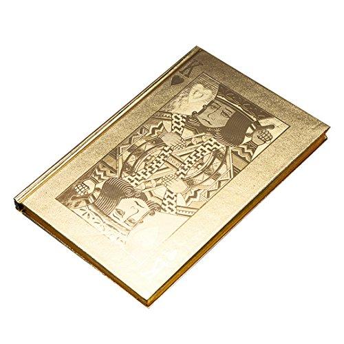 Poker King Gold Silver Foil Hardcover Bookmark Notebook N...
