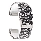 #6: Fitbit Charge 2 Band,Silicone Adjustable Replacement Sport Strap Printed Bands with Classic Buckle for Charge2 HR Heart Rate + Fitness Wristband