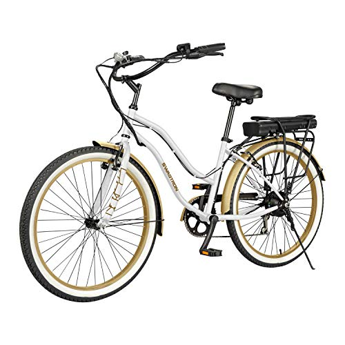 """SWAGTRON EB10 Electric Cruiser Bike w/ 7SPD 