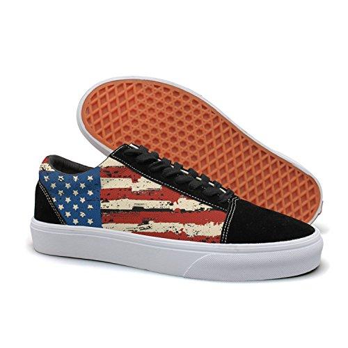 PPQQMM American Flag Retro Men Golf Le Fleur Slip On Shoes Lunar X Low Top 2018 Black
