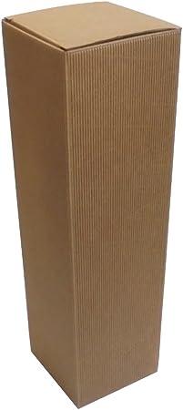 Unidades 10 Estuche Magnum Porta Botellas (1 botella de 1,5 l) (cartón ondulado Box for Bottles caja de papel: Amazon.es: Hogar