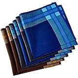 Men's Handkerchiefs,100% Cotton 6 Piece Gift Set (Pattern 008)