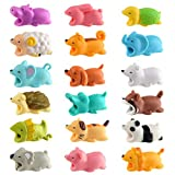 KUUQA 18 PCS Cable Protector Cute Animals Cable Bites Charger Cord Saver USB