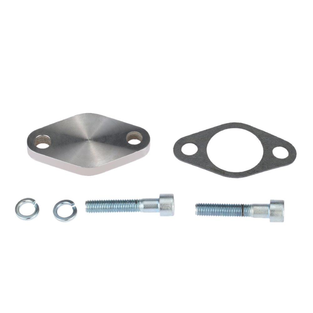 KKmoon 8mm EGR Valve Blanking Block Plates Kit with Gasket