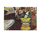 Life Venison & Ostrich Pillow (A Macke) Kitchen Bar Glass Cutting Board 8''x11''