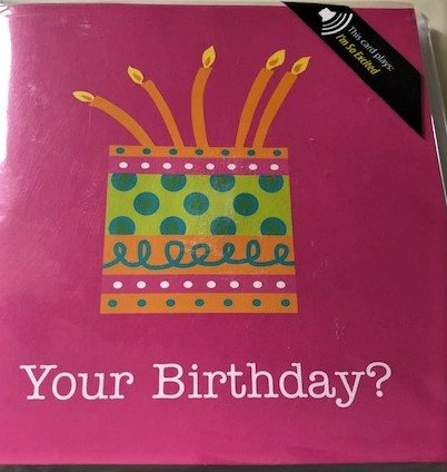 SINGING BIRTHDAY CARD WITH HIT SONG MUSICAL GREETING CARDS KIDSLOVE HALLMARK