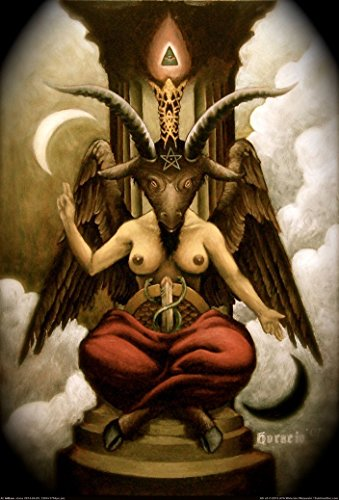 Art Poster Baphomet Fabric Cloth Rolled Wall Poster Print -- Size: (36