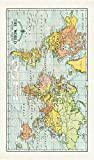 Cavallini Papers & Co. Cavallini Vintage World Map Cotton Tea Towel