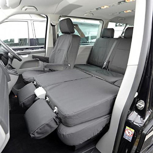 UK Custom Covers SC103B Tailored Heavy Duty Waterproof Front Seat Covers Black