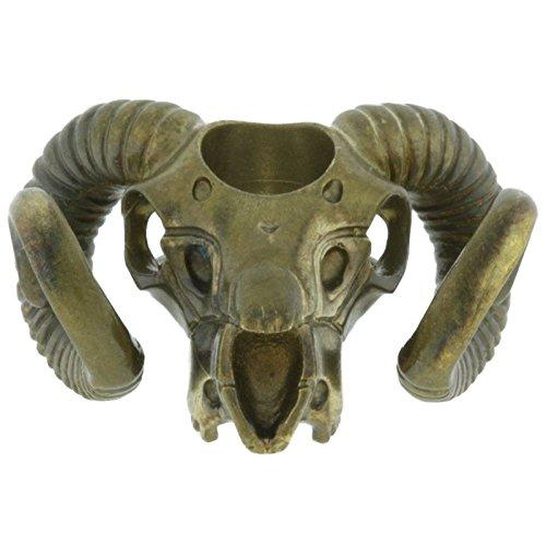 (Jig Pro Shop Paracord/Lanyard Bead by Techno Silver (Ram Skull (Brass)))