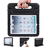 iPad air 2 cases, ANZOL lightweight shockproof cover case with handle stand for kids for Apple iPad air 2(Black)