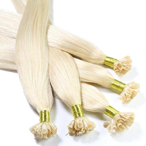 Hair 2 Heart - Extensione de queratina 60cm, colore #27 rubio dorado oscuro, corrugado, 1 unidad