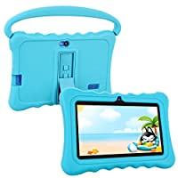 Kids Tablet,Auto Beyond 7 inch Tablet for Kids Google Android 5.1 with Handle and Stand Silicone Case,Playstore,8GB ROM,1GB RAM,Wi-Fi,Bluetooth (Blue)