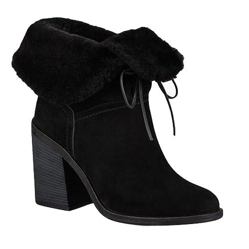 UGG Chaussures Jerene Botines de Ante Negro Mujer Black 36: Amazon.es: Zapatos y complementos