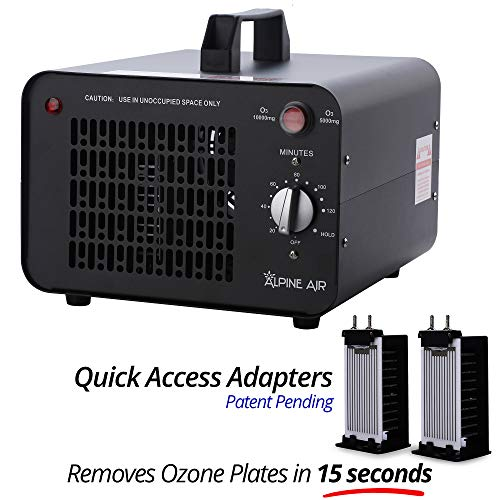 Alpine Air Commercial Ozone Generator - 10,000 mg/h | Professional O3 Air Purifier, Ozonator and Ionizer | Heavy Duty Air Cleaner, Deodorizer and Sterilizer | Best for Odor Stop Control