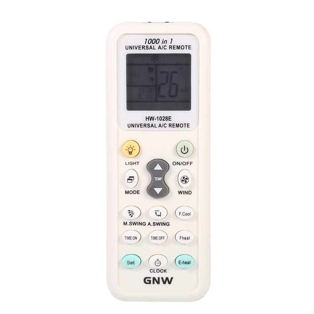 Portable Universal Intelligent Air Conditioner Remote Control Replacement Controller K-1028E, No battery