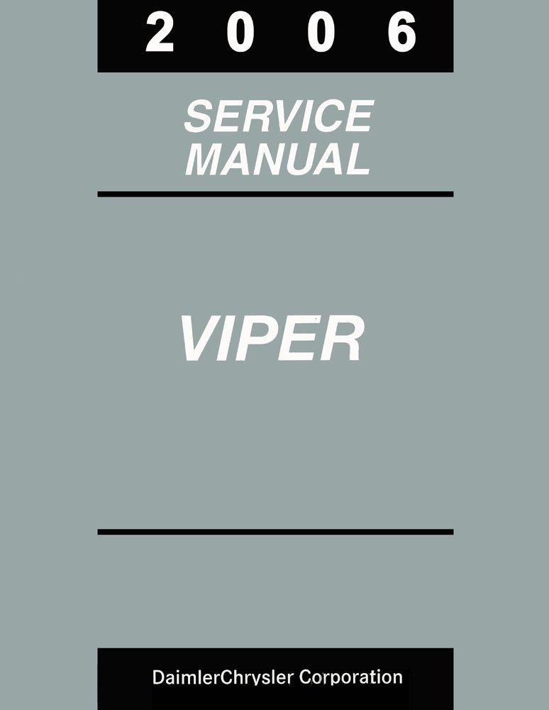 2006 Dodge Viper Shop Service Repair Manual Book Engine Drivetrain Electrical