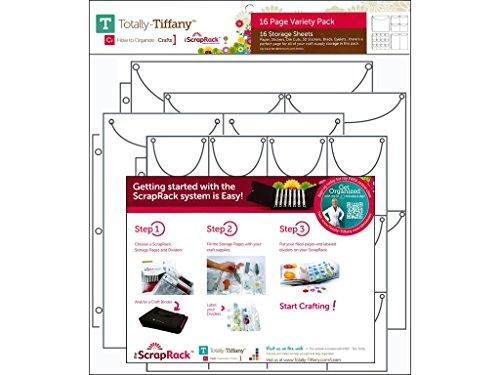 Totally-Tiffany Scraprack Storage Sheet Vpack 16pc Variety Pack 16 Piece