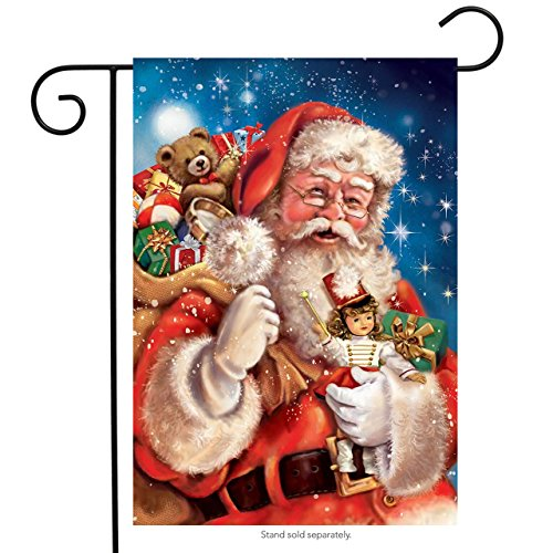 (Briarwood Lane Santa with Presents Christmas Garden Flag Sack of Gifts 12.5