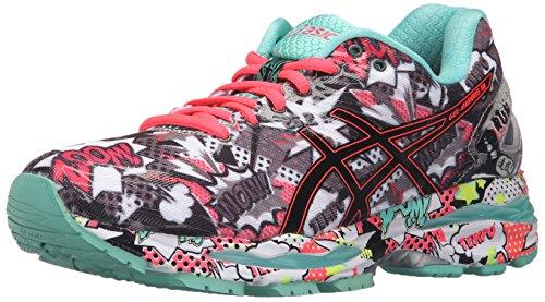 ASICS Women's Gel-Nimbus 18 Running Shoe, Titanium/White/Turquoise, 8.5 M US