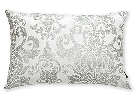 Textilhome Funda de Cojín Bianca - Medida 60x40. Color Gris ...