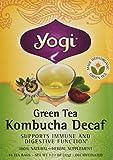 Yogi Green Tea Kombucha Decaf Tea, 16 bags