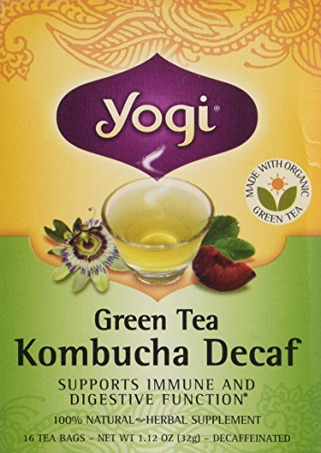 Yogi Green Tea Kombucha Decaf Tea, 16 (Plum Decaf Tea)