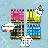 20 Cartuchos de impresora XL de color negro, cian, amarillo y magenta. Sustituyen a los de Epson T1631, T1632, T1633, T1634 no. 16, no.16 XL. ...