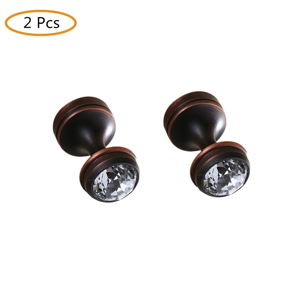 WINCASE Black 2 Pcs Clothes Hook Robe Hook Towel Holder, Wall Mounted Oil Rubbed Bronze finished Bathroom Accessories American Style