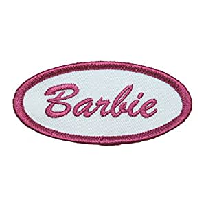 Barbie Name Tag Embroidered Iron On Patch