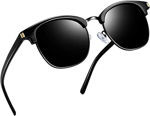 Joopin Polarizado Medio Marco Gafas de Sol para Hombres - Classic ...