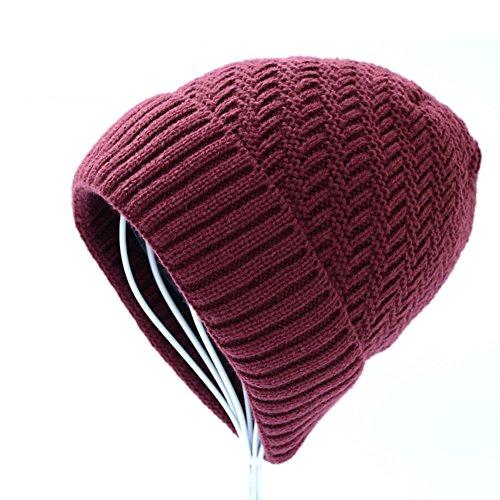 de de punto D moda Los lana de el Sombreros invierno Añadir de Sombrero Cachemira gorro grueso hombres xwaI16