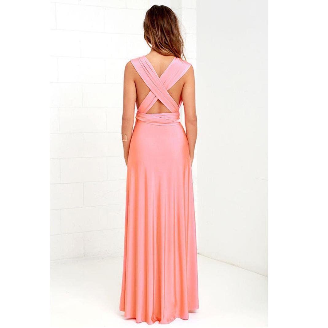 Yesmile 💋💝Vestido Las Mujeres Vestido de Noche Convertible Multi Way Abrigo Dama de Honor Vestido Largo Regalos de Gala de Fiesta (Azul, M): Amazon.es: ...