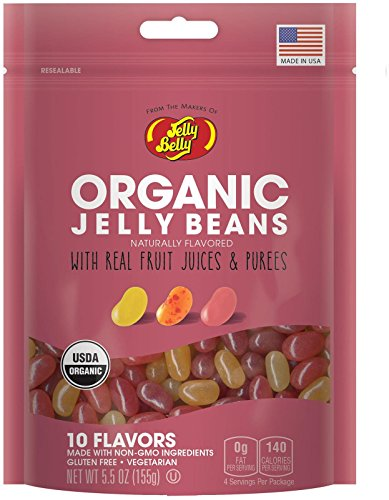 Jelly Belly Organic 10 Flavor Jelly Beans, 5.5 Ounce (Color Jelly Beans)