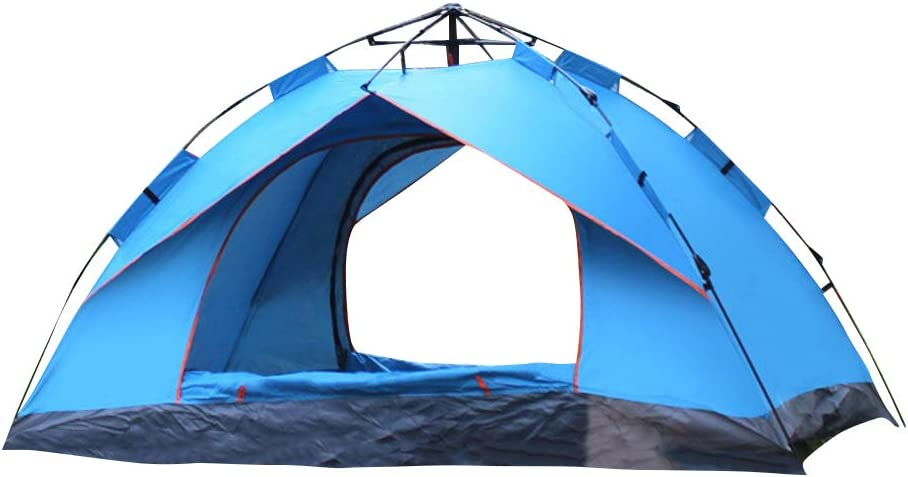 perfect for camping festivals and holidays Outdoor tent lightweight Pop Up throw tent in green and blue with carry bag