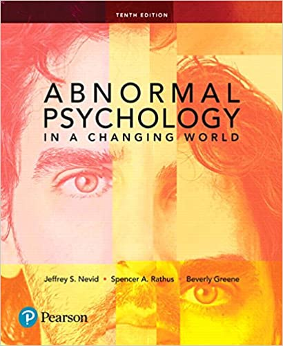 Amazon Com Abnormal Psychology In A Changing World 10th Edition