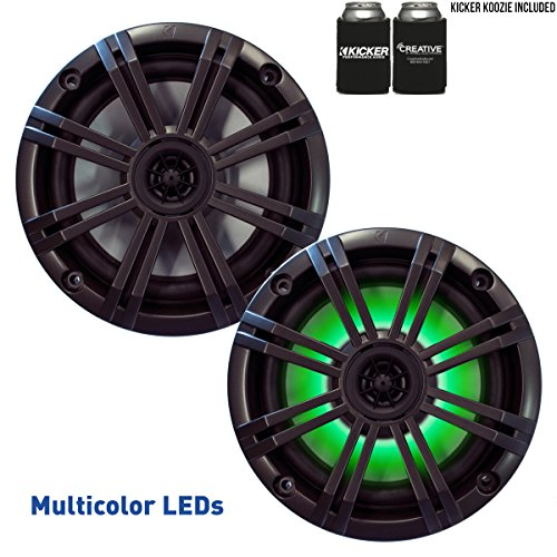 Kicker 6.5 Charcoal LED Marine Speakers  1 pair of OEM repla