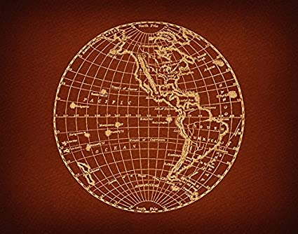 Amazon.com: Vintage Globe Wall Art Print Earth World Planet Home ...