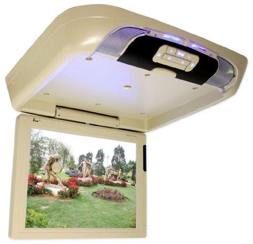 "TView T1591DVFD 15""Car Video Beige Flip Down Car Monitor DVD Player SD USB Input"